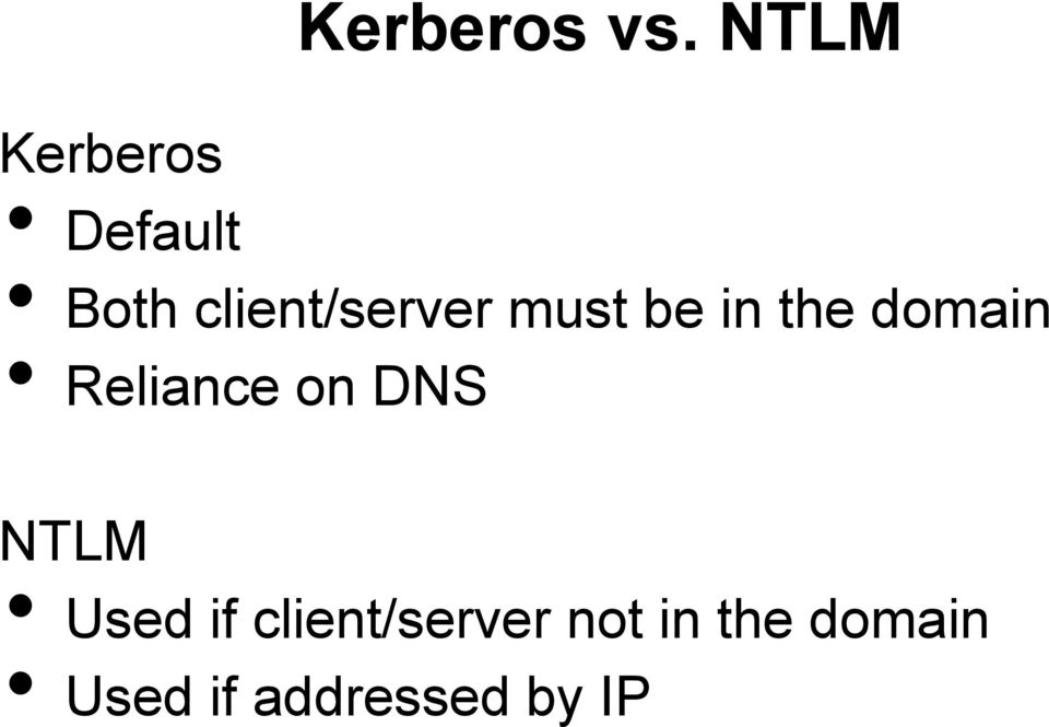 client/server must be in the domain