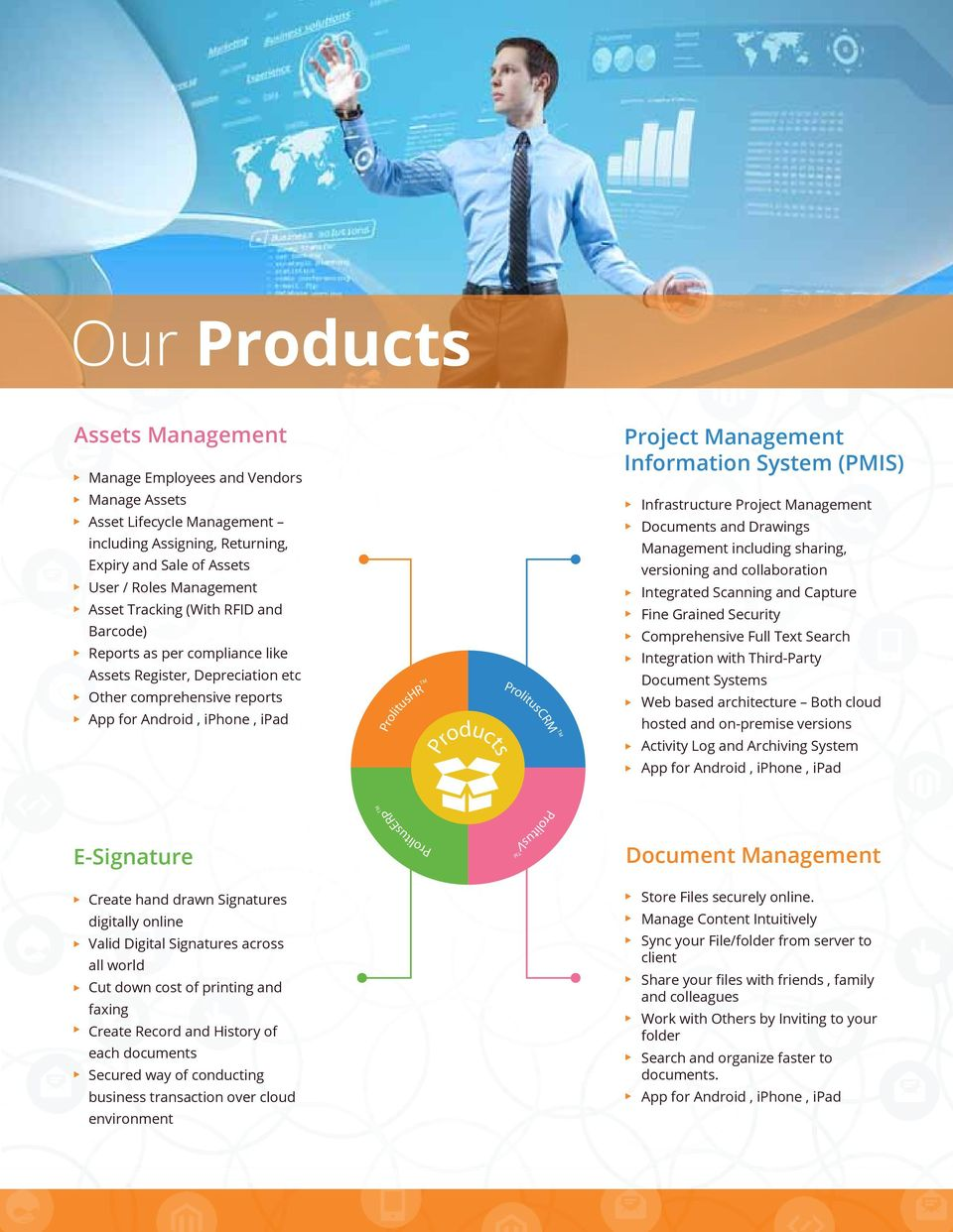 Management Information System (PMIS) Infrastructure Project Management Documents and Drawings Management including sharing, versioning and collaboration Integrated Scanning and Capture Fine Grained