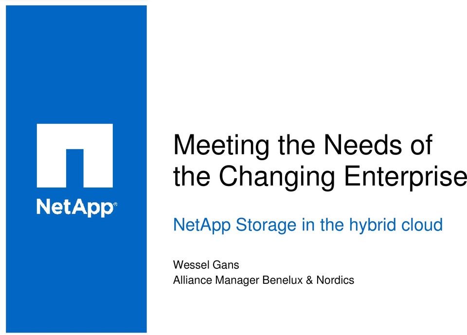 Storage in the hybrid cloud