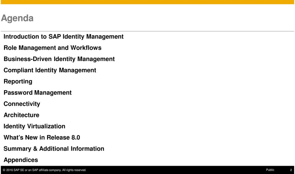Reporting Password Management Connectivity Architecture Identity