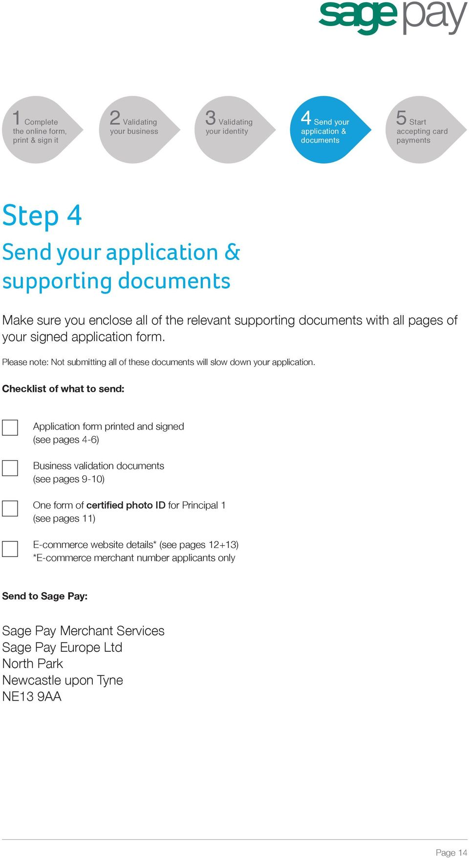 Checklist of what to send: Application form printed and signed (see pages 4-6) Business validation (see pages 9-10) One form of certified photo