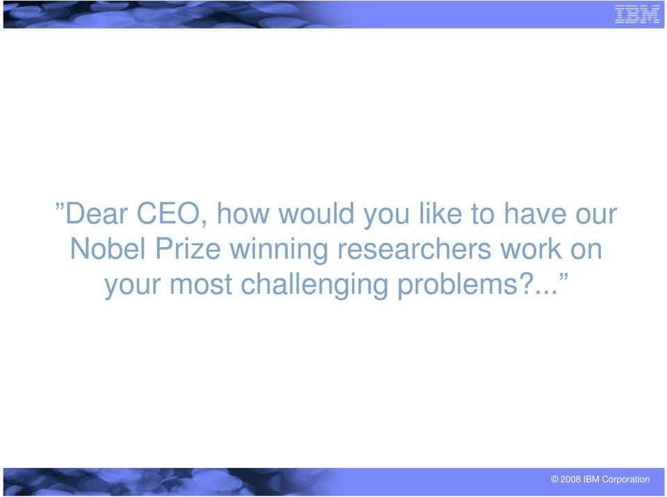 winning researchers work on