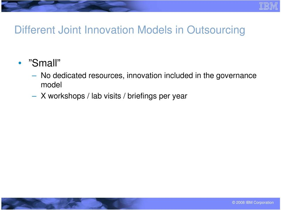 innovation included in the governance
