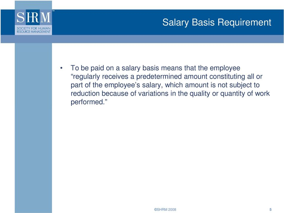 part of the employee s salary, which amount is not subject to reduction