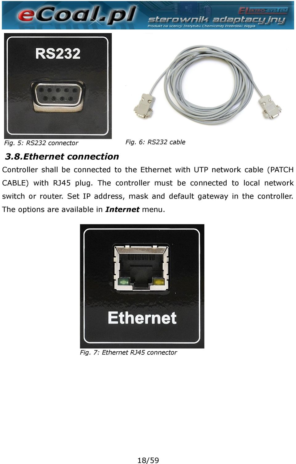 (PATCH CABLE) with RJ45 plug.