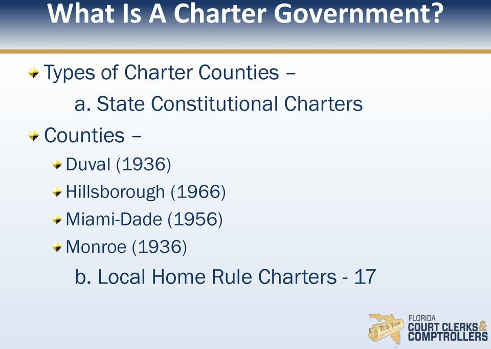 State Constitutional Charters Counties Duval