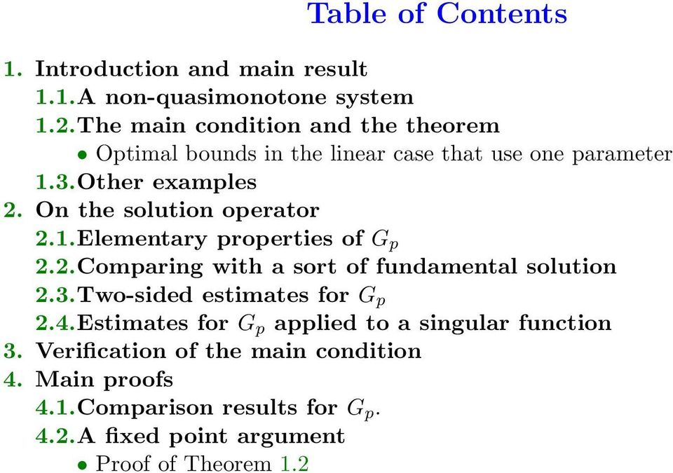 On the solution oeato 2.1.Elementay oeties of G 2.2.Comaing with a sot of fundamental solution 2.3.