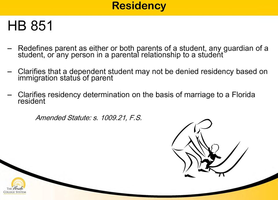 student may not be denied residency based on immigration status of parent Clarifies