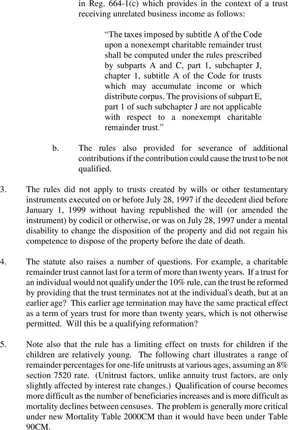 computed under the rules prescribed by subparts A and C, part 1, subchapter J, chapter 1, subtitle A of the Code for trusts which may accumulate income or which distribute corpus.