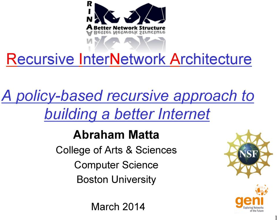 better Internet Abraham Matta College of Arts