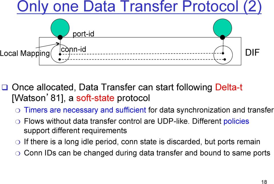 transfer Flows without data transfer control are UDP-like.