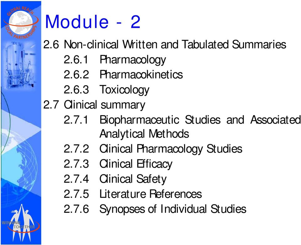 7.2 Clinical Pharmacology Studies 2.7.3 Clinical Efficacy 274 2.7.4 Clinical i l Safety 2.7.5 Literature References 276 2.