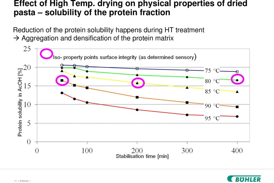 of the protein fraction Reduction of the protein
