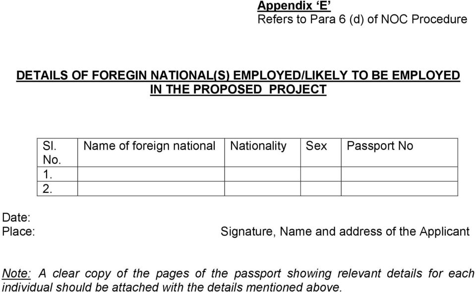 IAF PROCEDURE FOR ISSUE OF NOC FOR CONSTRUCTION OF AERODROMES – Noc Certificate for Passport