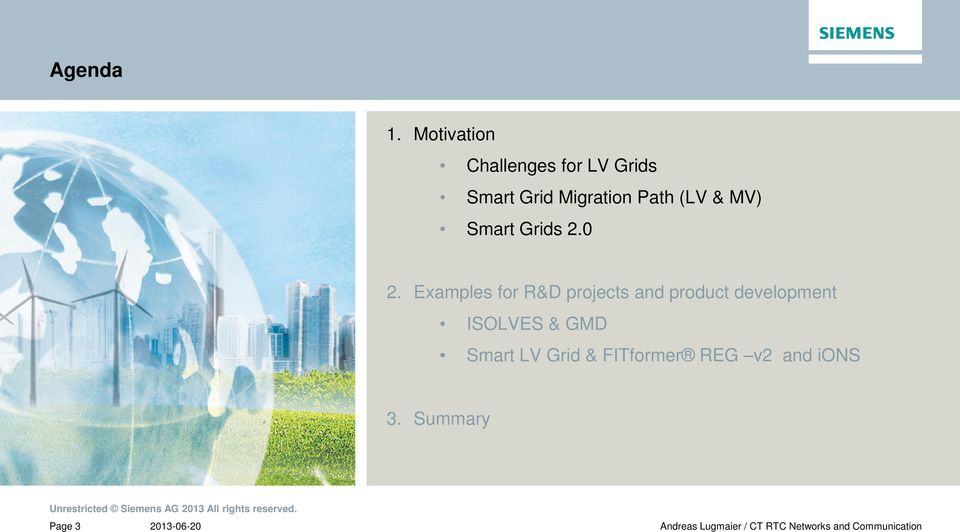 Path (LV & MV) Smart Grids 2.0 2.