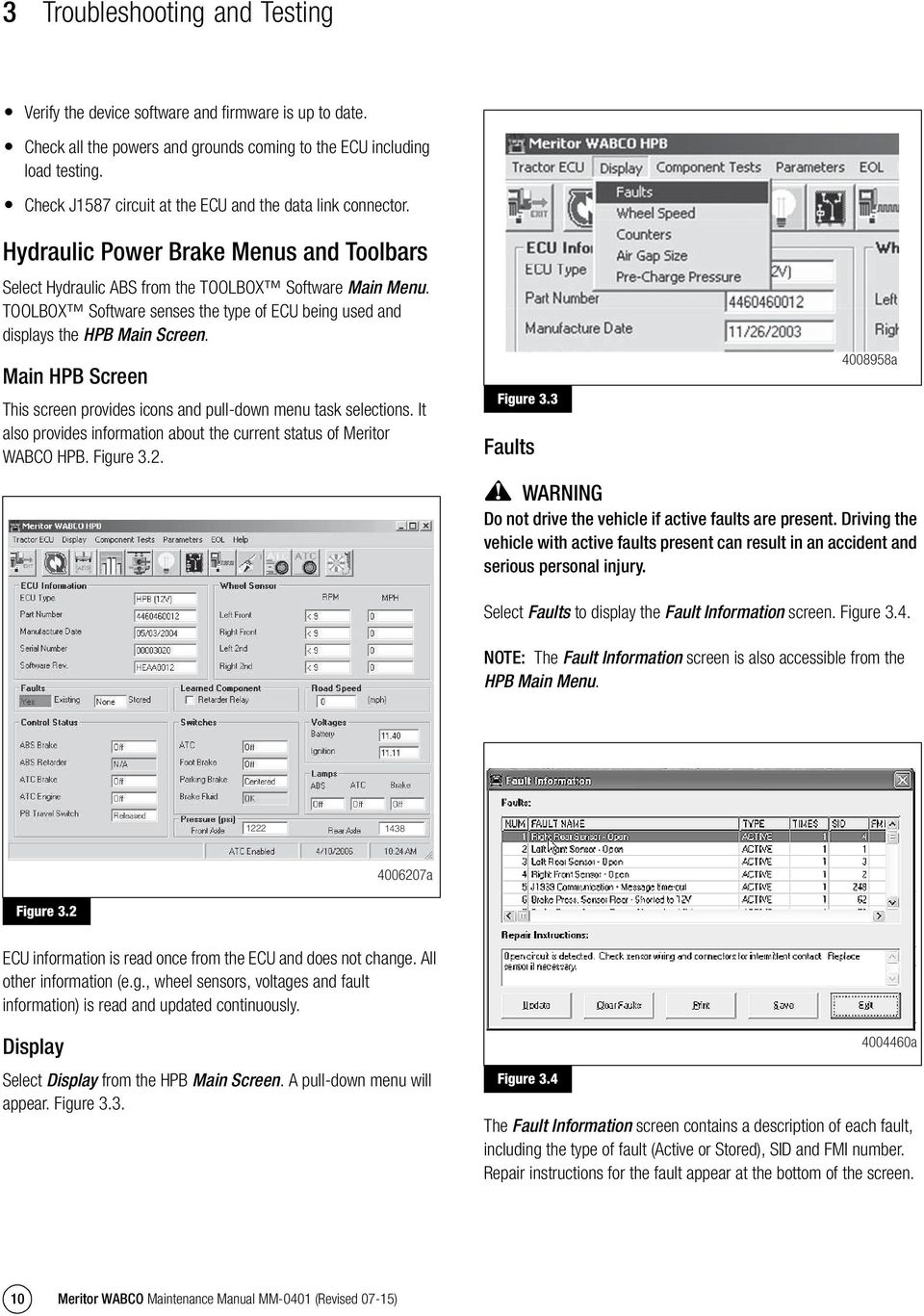 meritor wabco hydraulic power brake hpb system pdf toolbox software senses the type of ecu being used and displays the hpb main screen