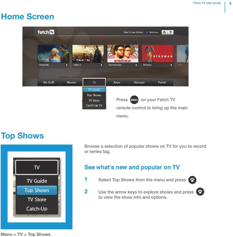 Top Shows Browse a selection of popular shows on TV for you to record or series tag.