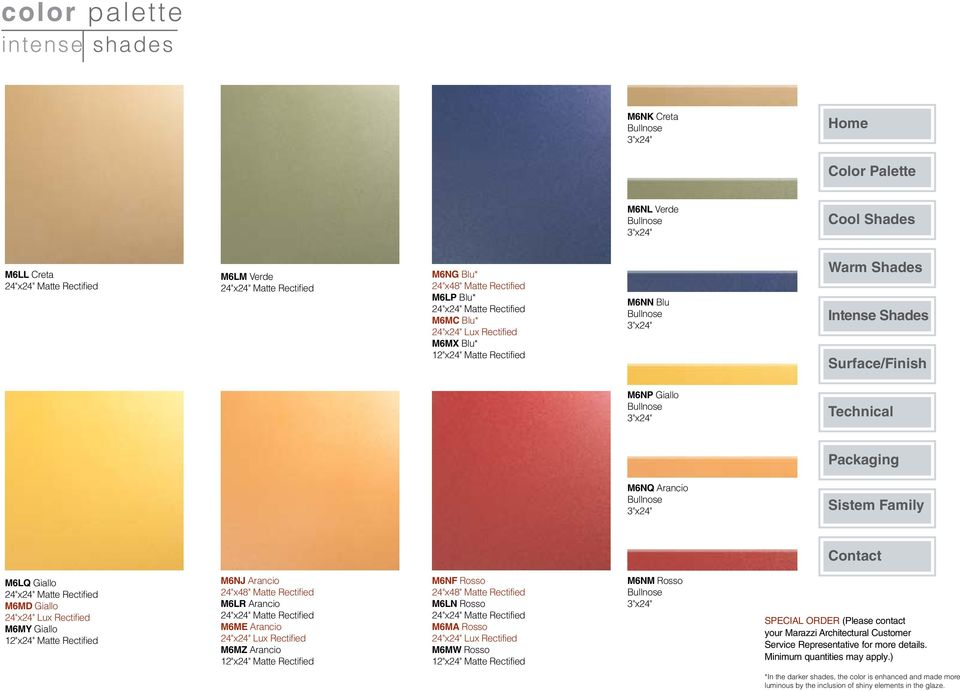 M6NM Rosso Special Order (Please contact your Marazzi Architectural Customer Service Representative for more details.