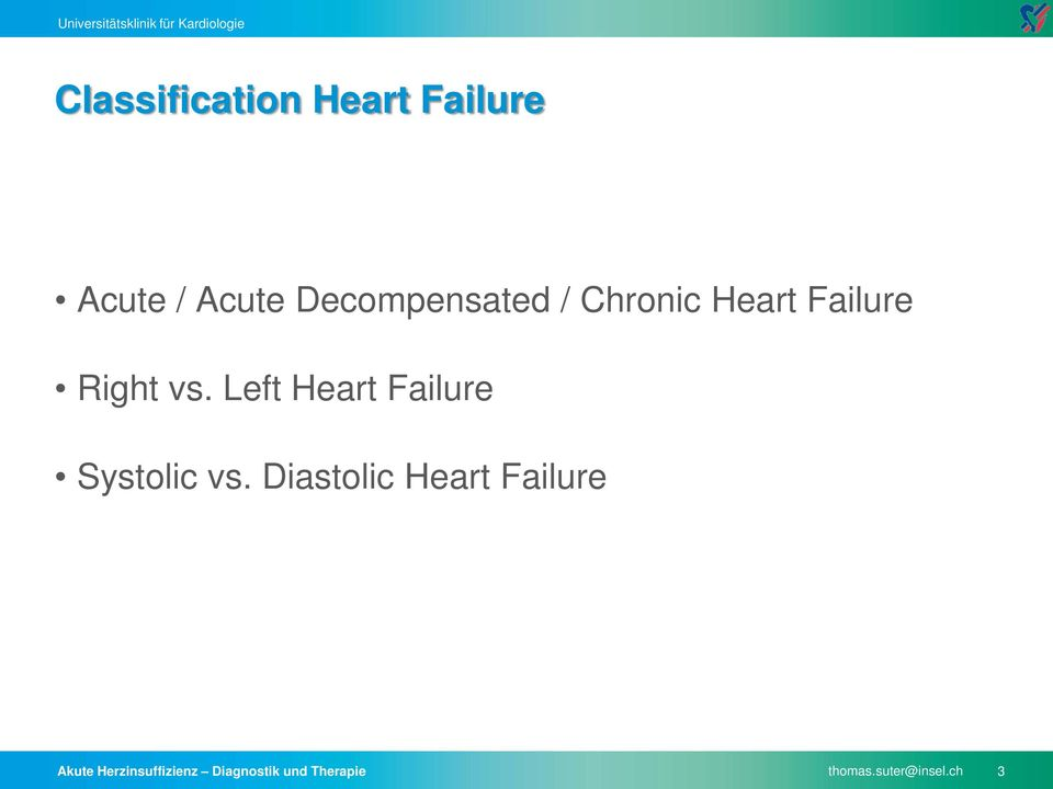 Left Heart Failure Systolic vs.