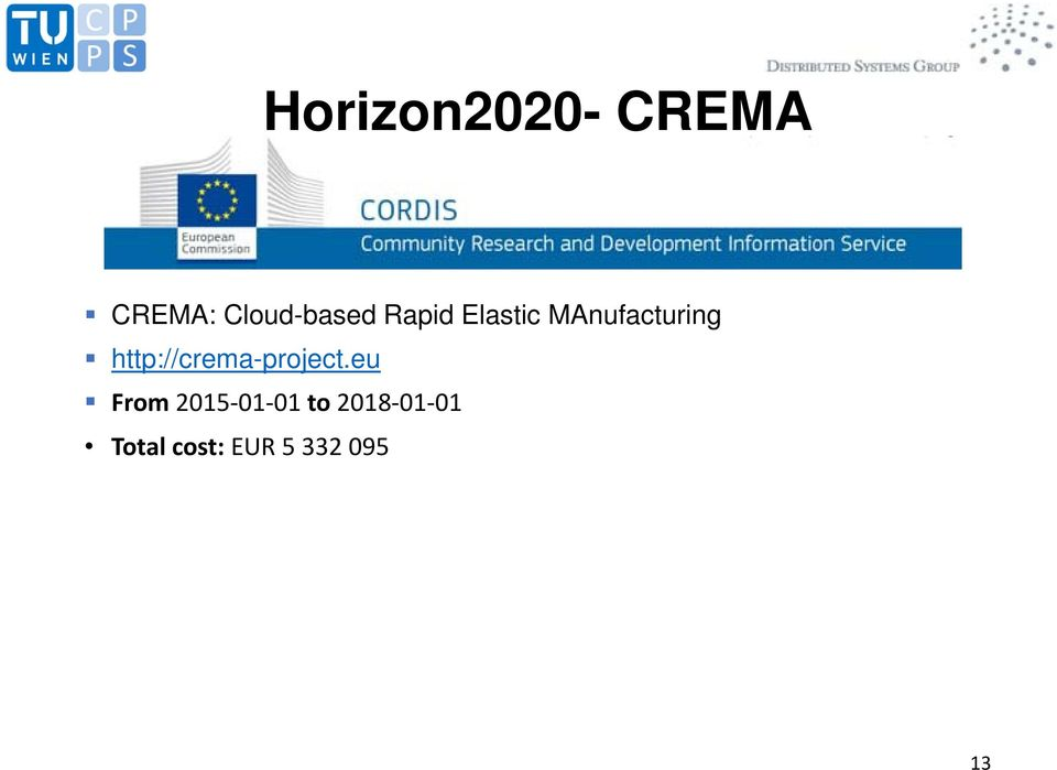 MAnufacturing http://crema-project.