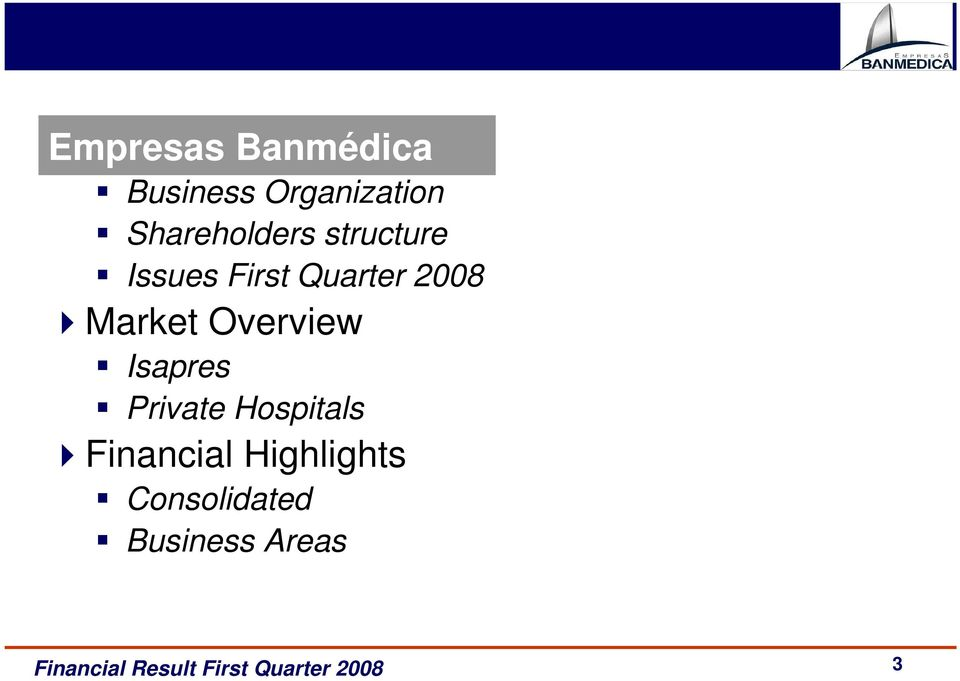 2008 Market Overview Isapres Private