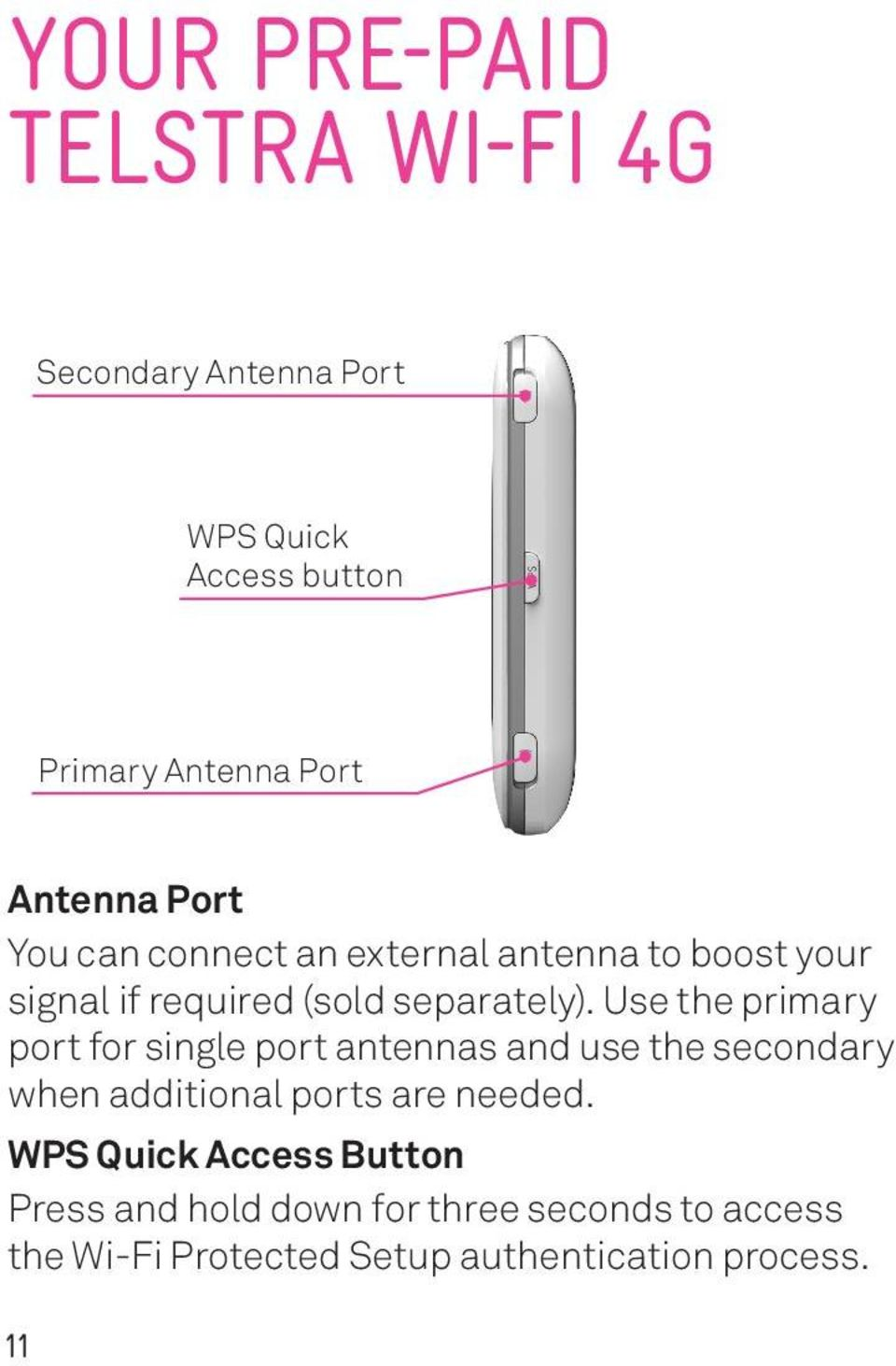 Use the primary port for single port antennas and use the secondary when additional ports are needed.
