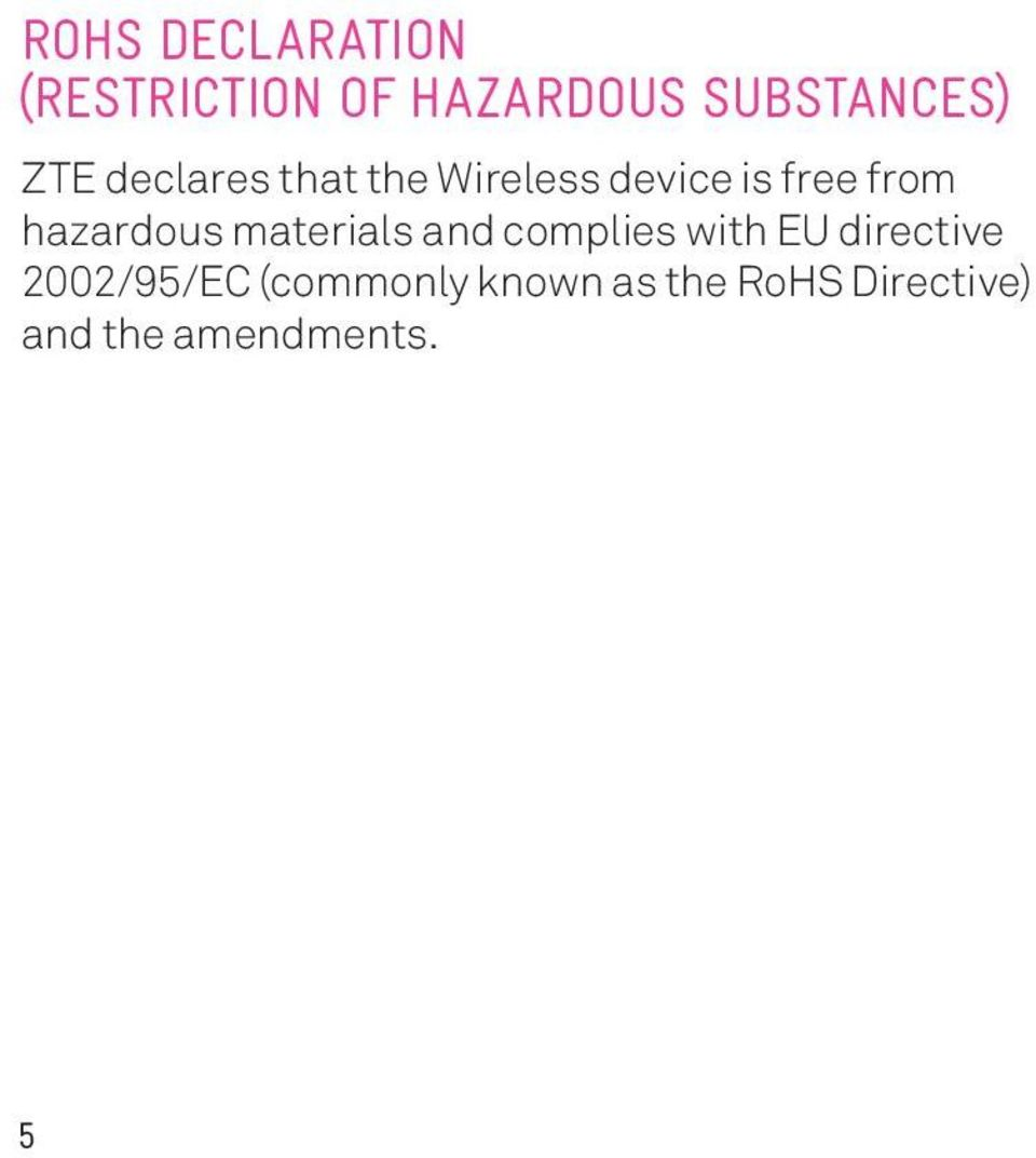 hazardous materials and complies with EU directive