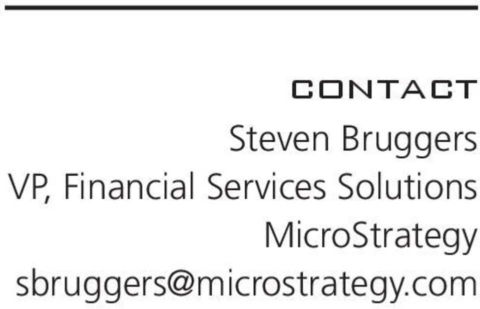 Solutions MicroStrategy