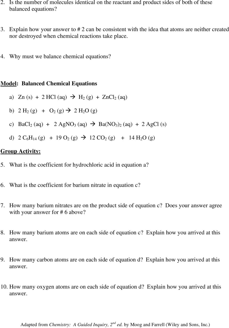 chemical equations and stoichiometry worksheet - Termolak
