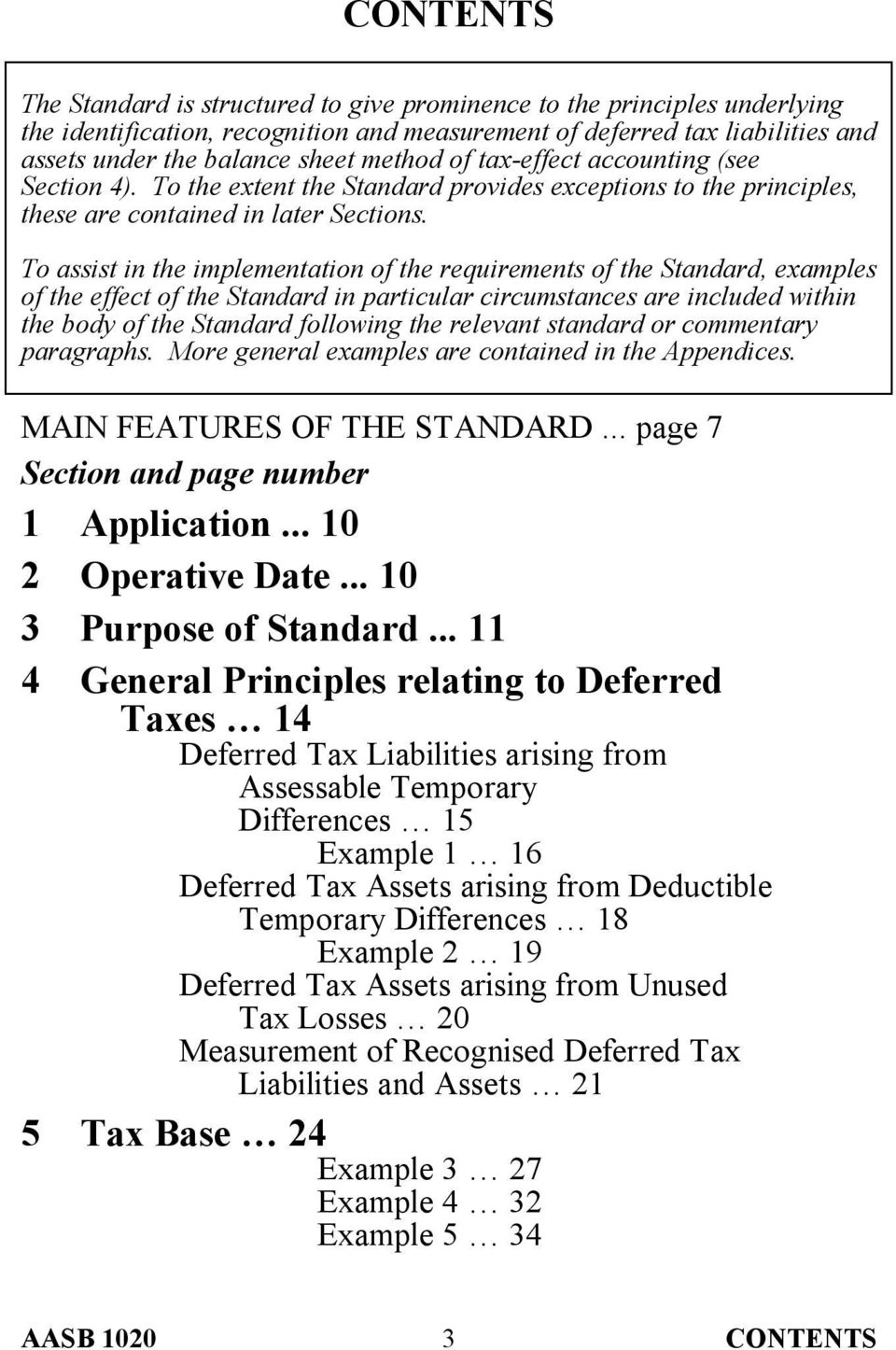 To assist in the implementation of the requirements of the Standard, examples of the effect of the Standard in particular circumstances are included within the body of the Standard following the