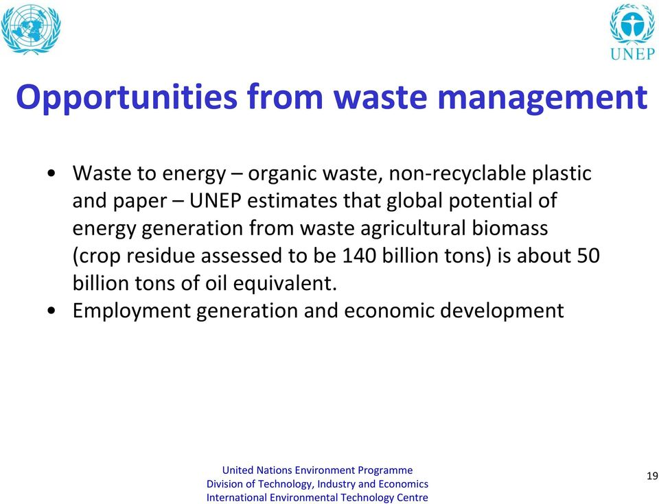 waste agricultural biomass (crop residue assessed to be 140 billion tons) is about