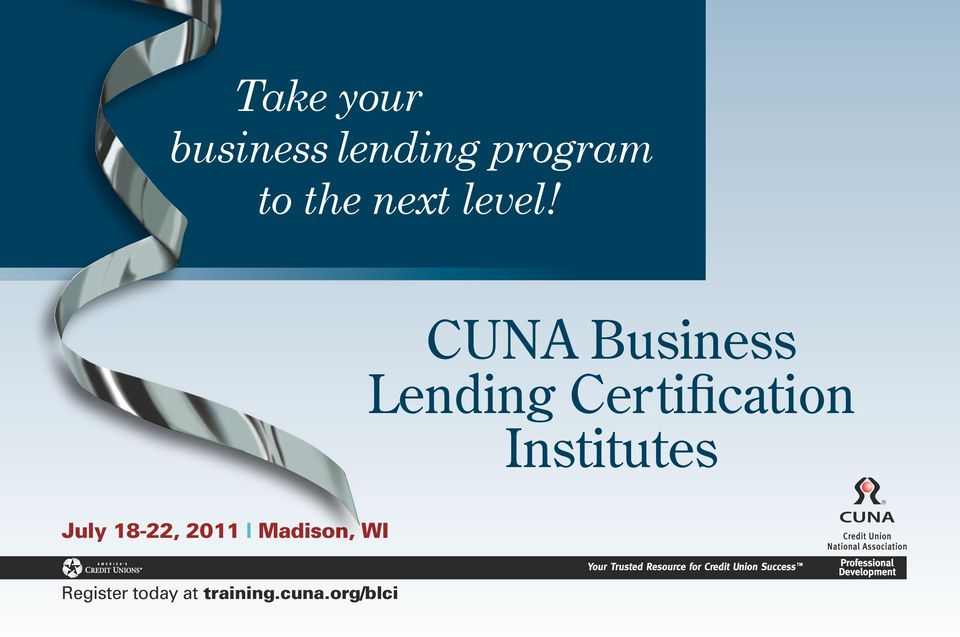 CUNA Business Lending Certification