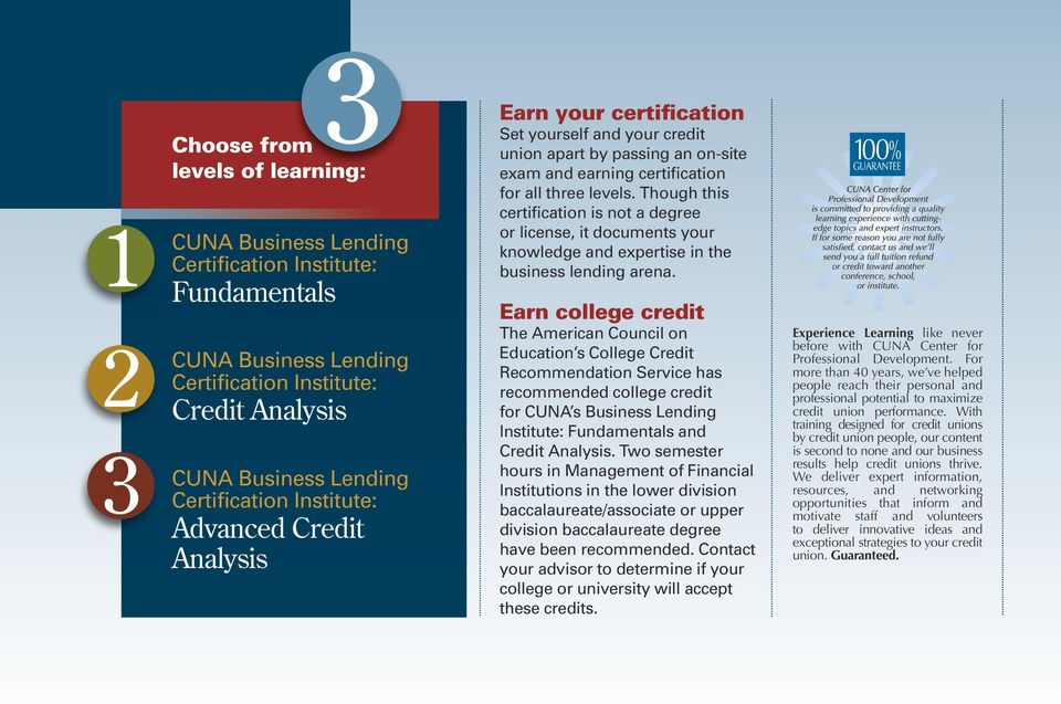 Though this certification is not a degree or license, it documents your knowledge and expertise in the business lending arena.