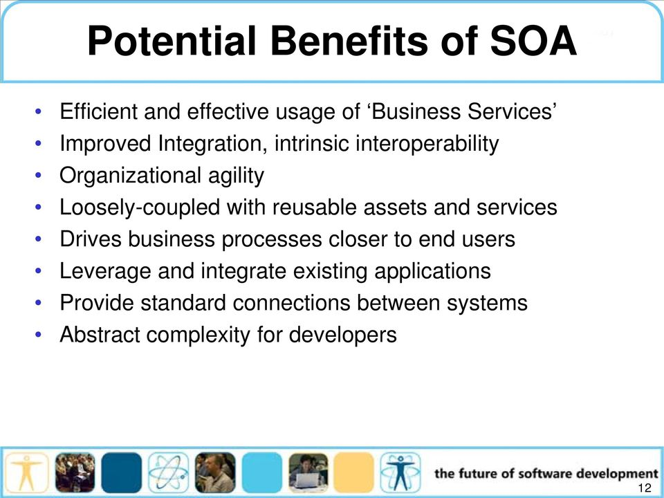 assets and services Drives business processes closer to end users Leverage and integrate