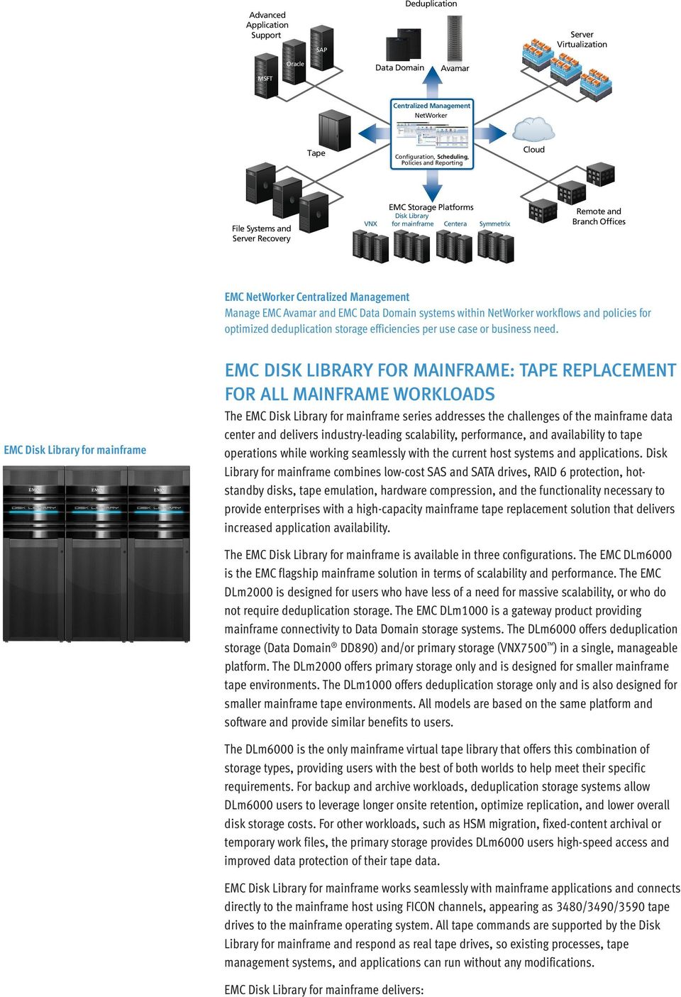 systems within NetWorker workflows and policies for optimized deduplication storage efficiencies per use case or business need.