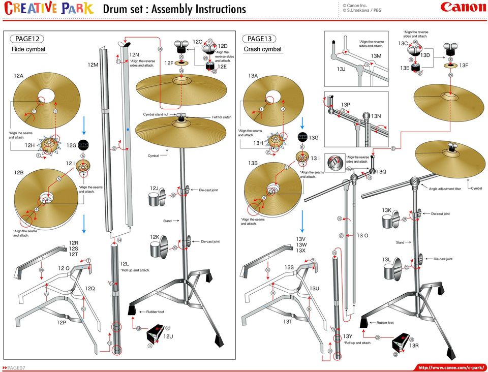 sides Die-cast joint Angle adjustment tilter Cymbal Stand