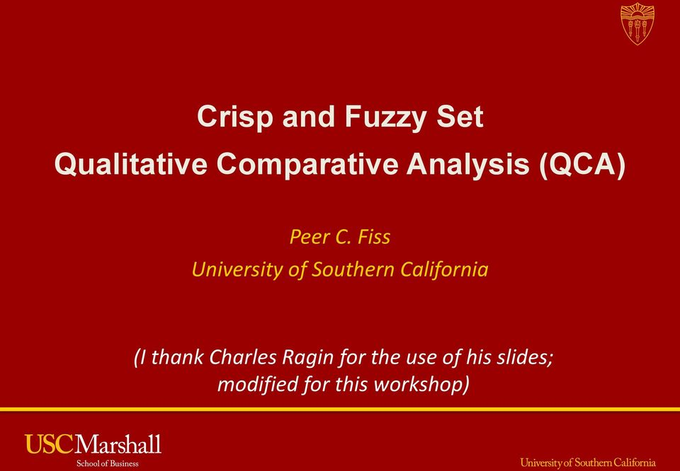 Fiss University of Southern California (I