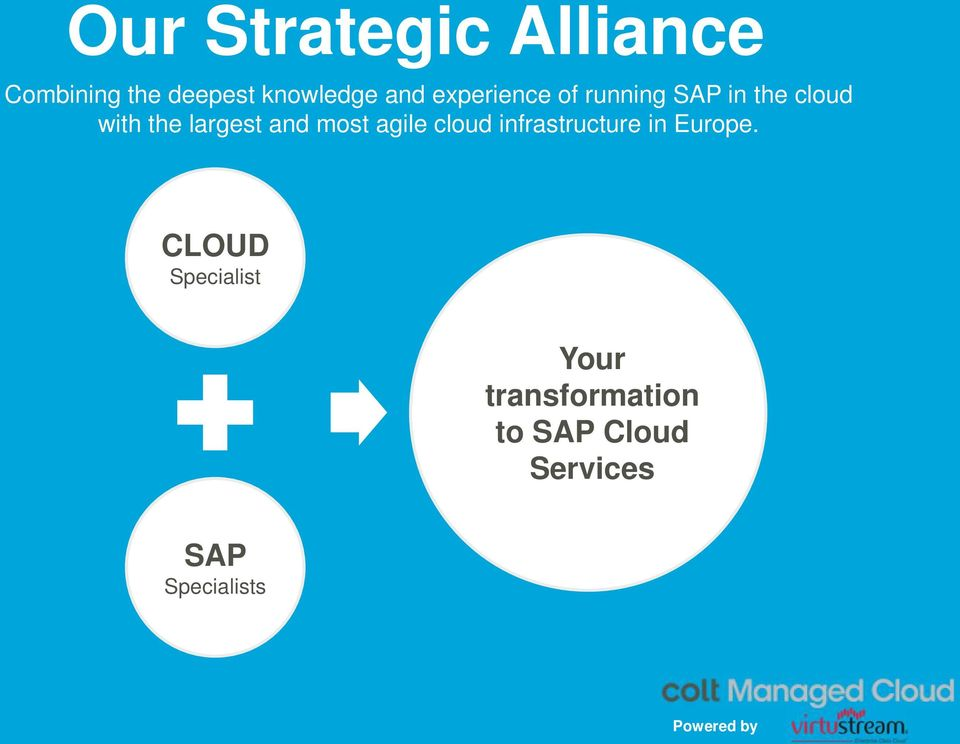 and most agile cloud infrastructure in Europe.