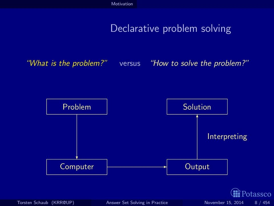 Problem Solution Interpreting Computer Output Torsten