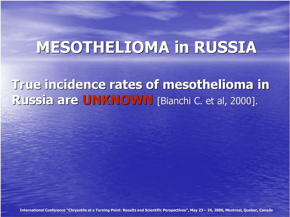 mesothelioma in Russia are