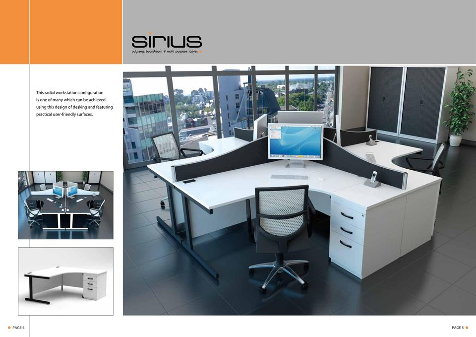 this design of desking and featuring