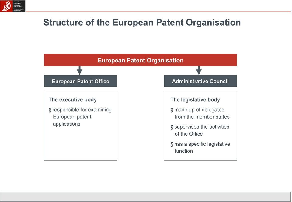 European patent applications The legislative body made up of delegates from the
