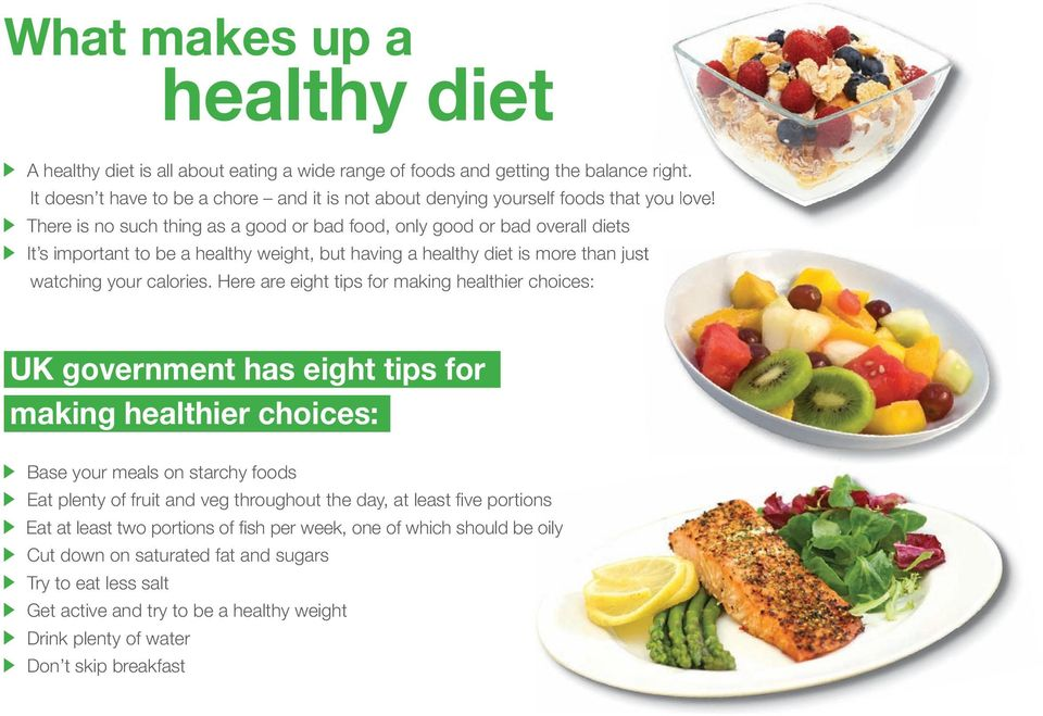 There is no such thing as a good or bad food, only good or bad overall diets It s important to be a healthy weight, but having a healthy diet is more than just watching your calories.