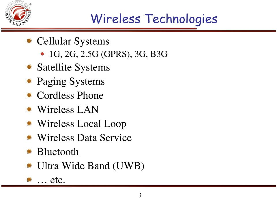 Cordless Phone Wireless LAN Wireless Local Loop