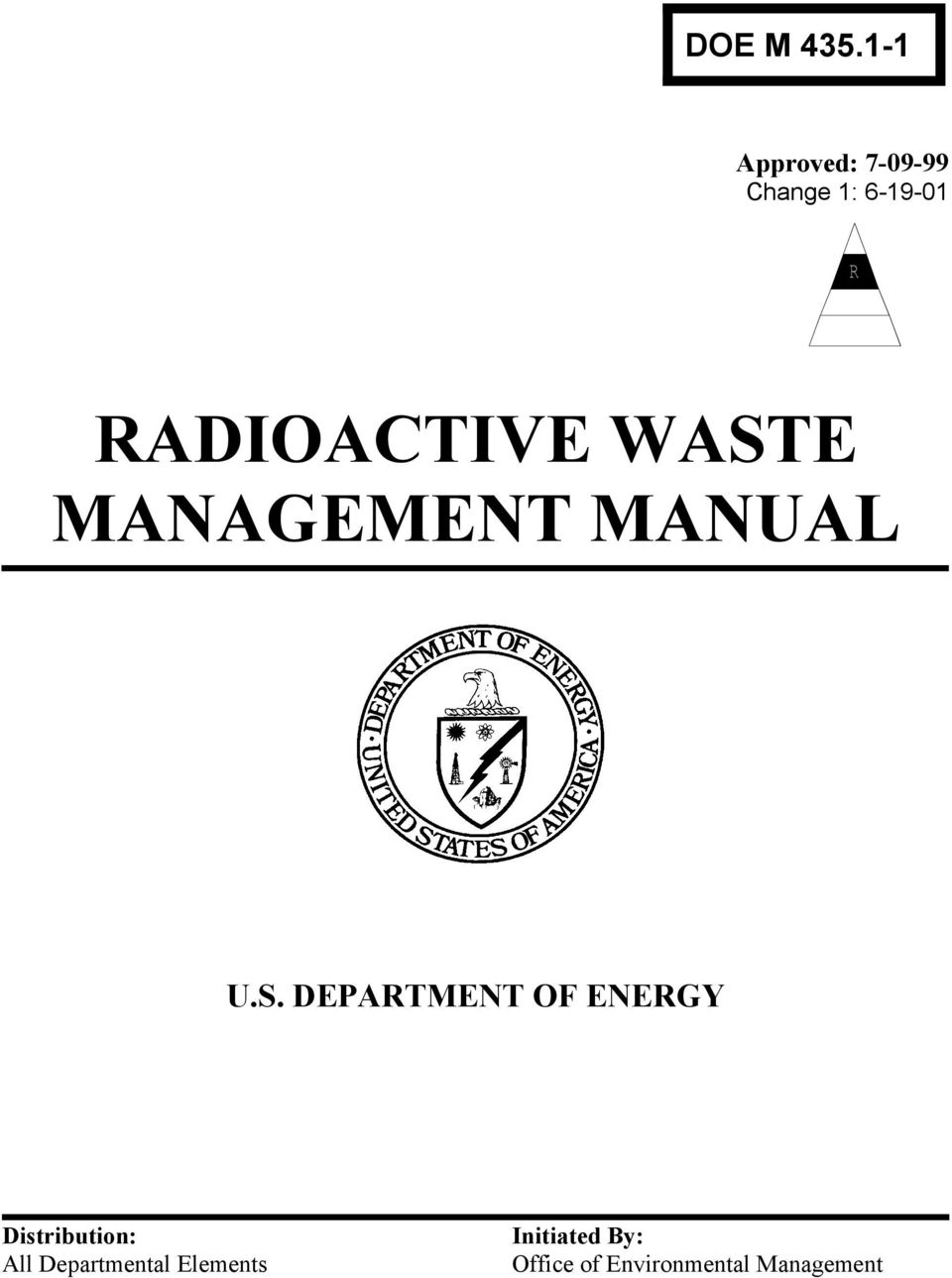 WASTE MANAGEMENT MANUAL U.S. DEPARTMENT OF