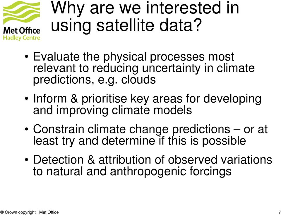uncertainty in climate predictions, e.g.