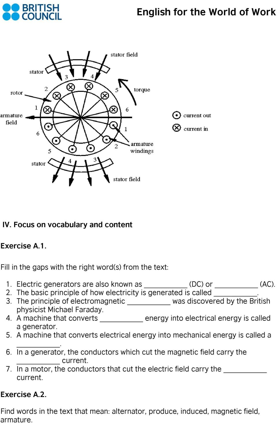 Lesson Plan Technical Electronics Pdf Faraday The Invention Of Electric Motor And Generator A Machine That Converts Energy Into Electrical Is Called 5
