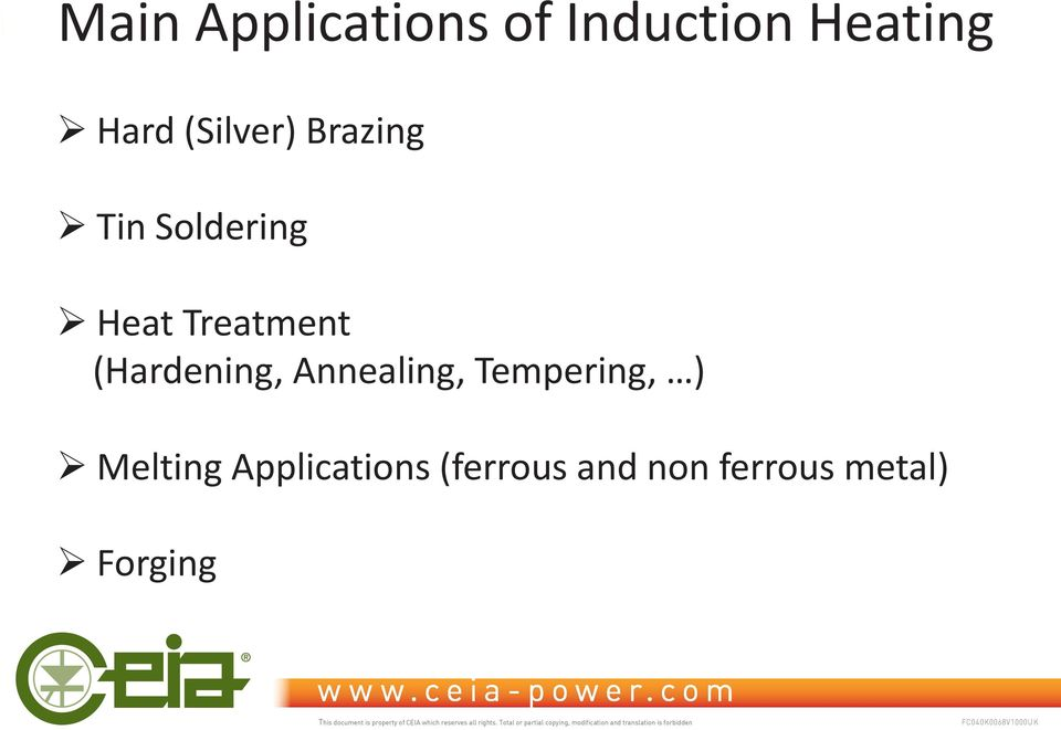 (Hardening, Annealing, Tempering, ) Melting