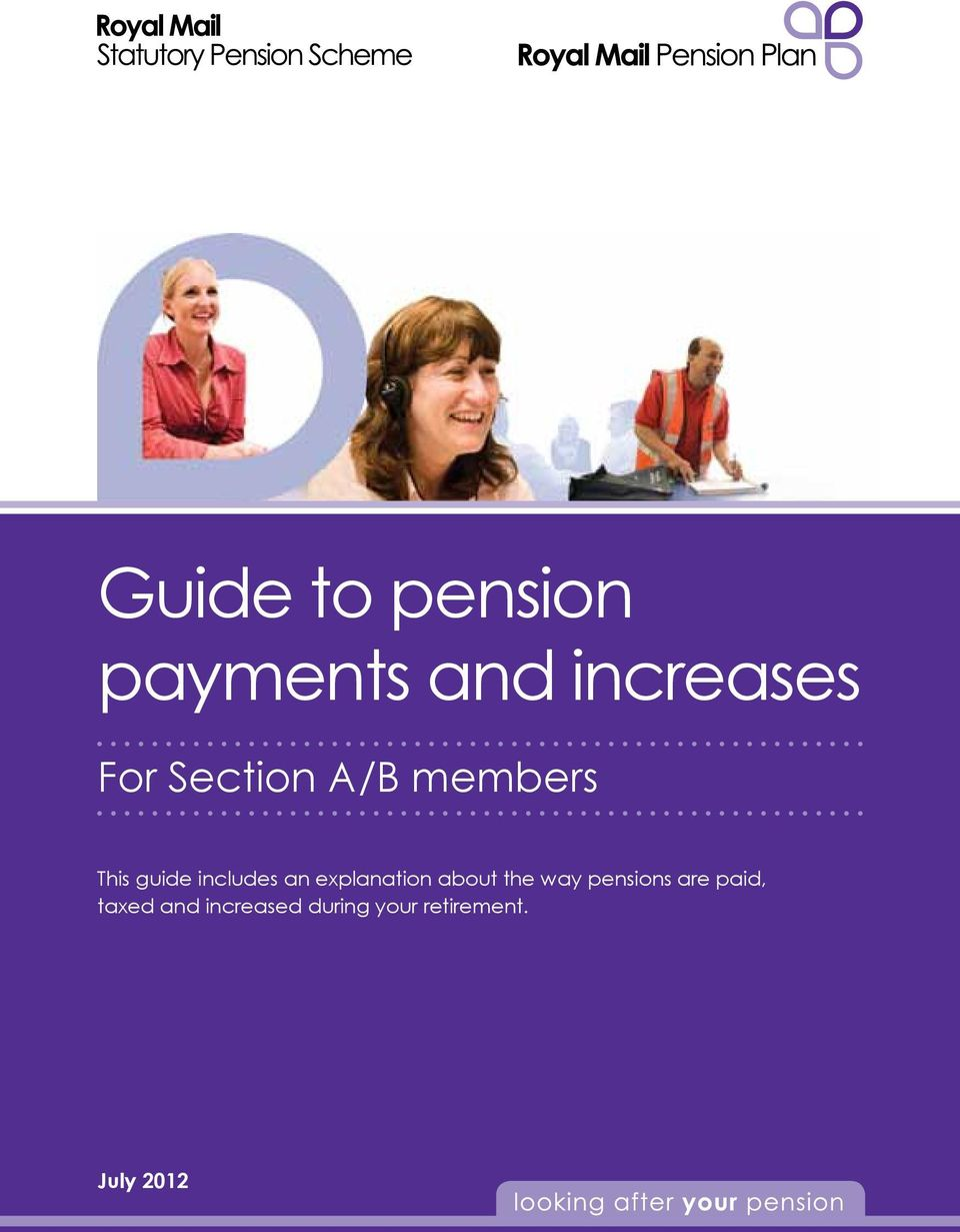 explanation about the way pensions are paid,