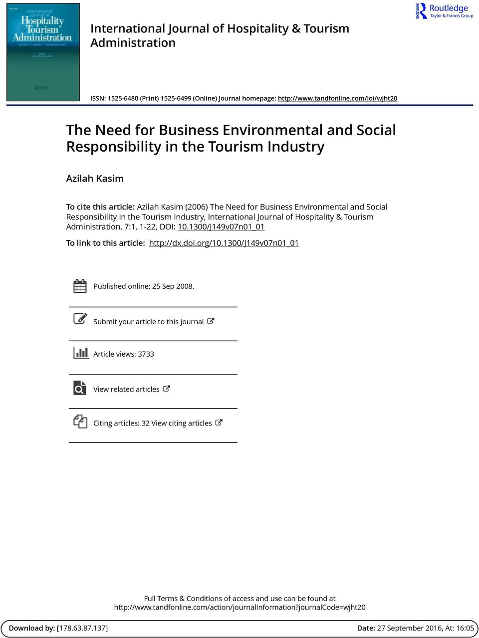 corporate social responsibility of hospitality industry tourism essay 1 claremont mckenna college corporate social responsibility in south africa's mining industry: redressing the legacy of apartheid submitted to.